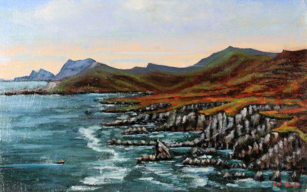 Fishing at Ashleam Bay, Achill IRL223