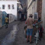 Perspiring in Zanzibar Stone Town